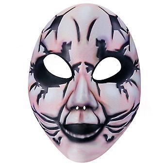 Horror masker half masker bizarre rimpels Halloween horror masker