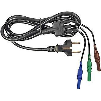 Cliff CIH29950 Veiligheidstestlood et [PG plug - 4 mm plug] 1,50 m Blauw, Groen, Bruin