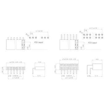 W & P Products Receptacles (standard) No. of rows: 1 Pins per row: 20 159-20-1-00 1 pc(s)