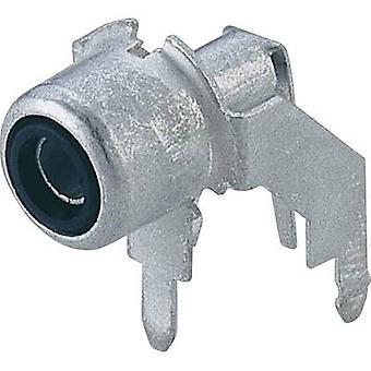 Hirschmann 930 092-000 RCA connector Socket, horizontale bevestiging Aantal pinnen: 2 Zilver 1 st(en)