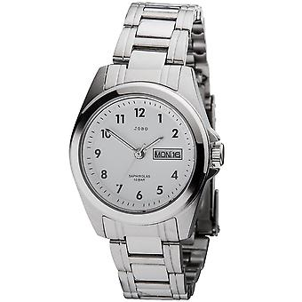 JOBO ladies wrist watch quartz analog stainless steel date watch