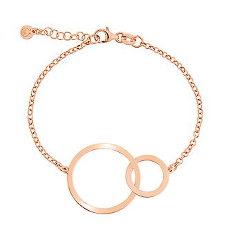 Orphelia Silver 925 Bracelet Rose Gold Circles 17+1.5 cm  ZA-7392