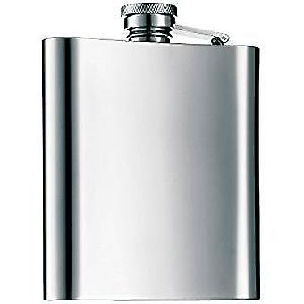 Stainless Steel Hip Flask For Whisky Vodka | 7 Oz 200ml 196 Ml | Silver | Portable Gadget
