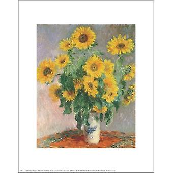 Sunflowers Poster Print by Claude Monet (11 x 14)