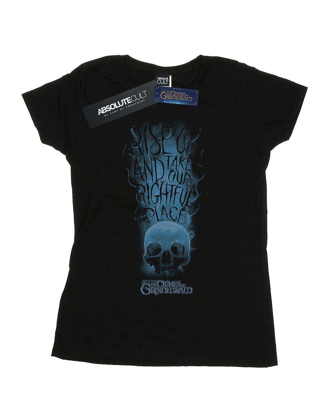 Fantastic Beasts Women's The Crimes Of Grindelwald Skull Smoke T-Shirt