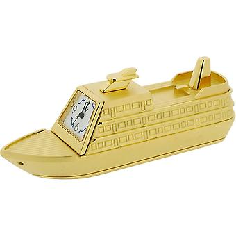 Gift Time Products Cruise Ship Miniature Clock - Gold
