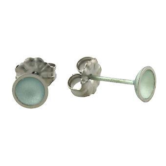 Orecchini piccoli cupola di titanio TI2 - Aqua Blue