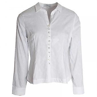 Vlt's By Valentina's Button Detail Stretch Cotton Shirt