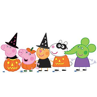 Peppa Pig and Friends Halloween theme Cardboard Cutouts Set of 5