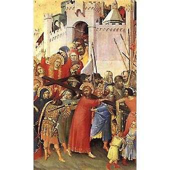 The Road to Calvary, Simone Martini, 29.5 x 20.5 cm