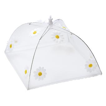 Epicurean Large Square 48cm Food Cover, Daisy