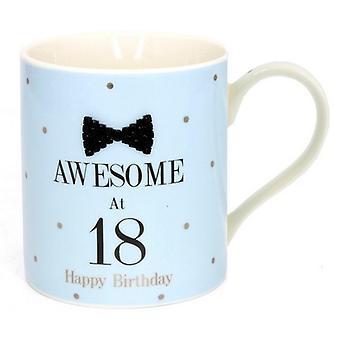 Lesser Pavey Mad Dots Black Tie Milestone Happy Birthday Gift Mug