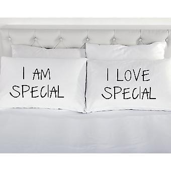 I sînt special I Love special fețe de pernă albă