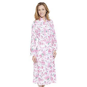 Nora Rose perle robe imprimé Floral gris pyjama peignoir Robe Cyberjammies 1310 féminin