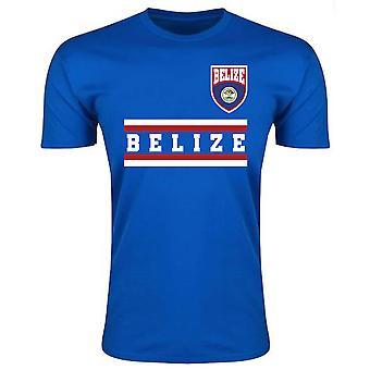 Belize Kern Fußball Land T-Shirt (blau)