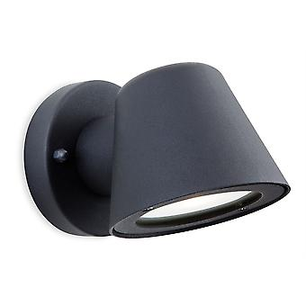 Erstlicht-LED 1 Light Outdoor Wall Light Black IP44-5943BK