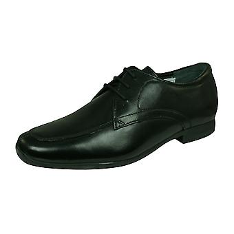 Hush Puppies Jake Boys Leather Lace Up School Shoes - Black