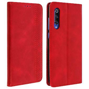 Vintage Retrohülle & Standfunktion für Xiaomi Mi 9 – Rot