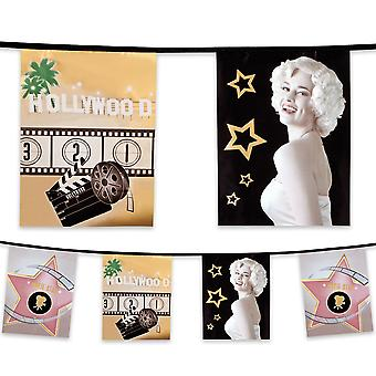 6 Metre Plastic Bunting Hollywood Movie
