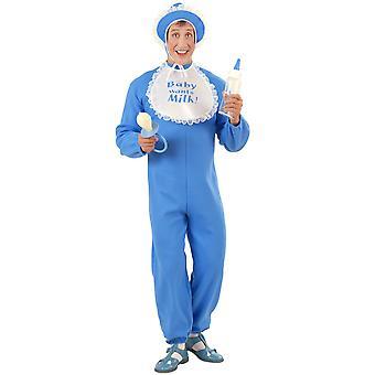Baby Boy Costume Flannel (Jumpsuit Bonnet Bib)