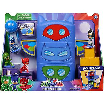 PJ Masks - Fold & Go Headquarters with Figures Playset Kids Toy