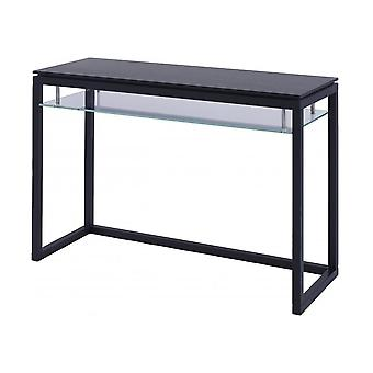 Gillmore Luxurious Wenge And Glass Large Console Table