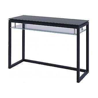 Gillmore lujoso Wenge y vidrio mesa de consola grande