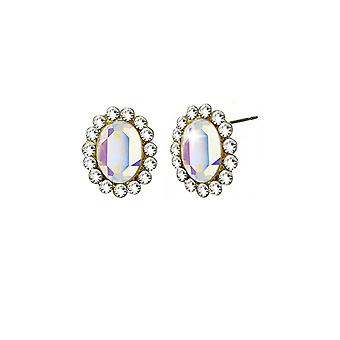 Eternal Collection Majesty Aurora Borealis Crystal Gold Tone Stud lävistetyt korva korut