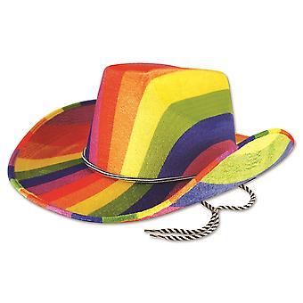 Bristol nyhet unisex voksne Rainbow cowboy lue