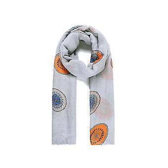 Fable Womens/Ladies Round Flower Print Scarf