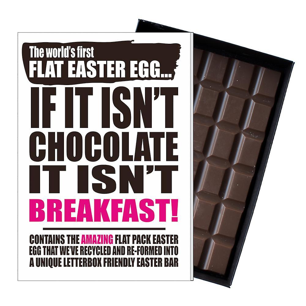 Funny Flat Easter Egg Chocolate Bar Greeting Card Gift Men Women Friend UK EIYF140