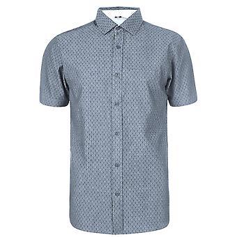 Soviet Mens Short Sleeve Dobby Casual Shirt Everyday Chest Pocket