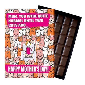 Funny Mother's Day Gift Cat Lover Chocolate Present Greeting Card For Mom Mum Mumy MIYF118