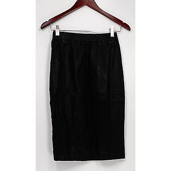 Joan River Classic Collection Skirt Faux Leather Pencil Black A258230