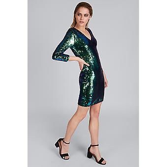Louche Duskee Sequin Dress Green