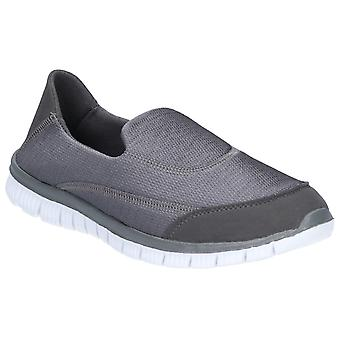 Caravelle Mens Orlando Sporty Comfort Slip On Shoe Grey