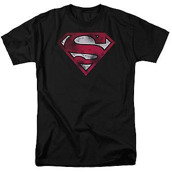 Superman nödställda symbol vit variant män ' s T-shirt