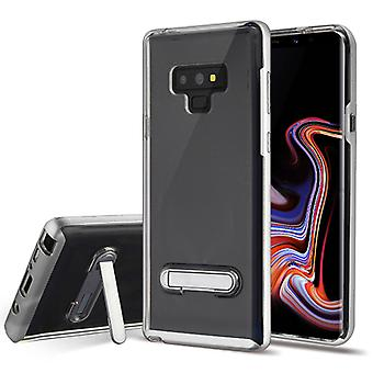 Silver/Transparent Clear Hybrid Protector Cover (w/ Magnetic Stand) pour Galaxy Note 9