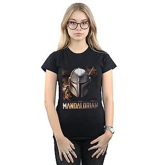 Star Wars kvinder ' s den mandalorianske hjelm T-shirt