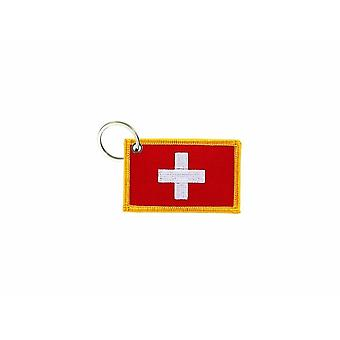 Cle Cles Clef Brode Patch Ecusson Badge Swiss Flag