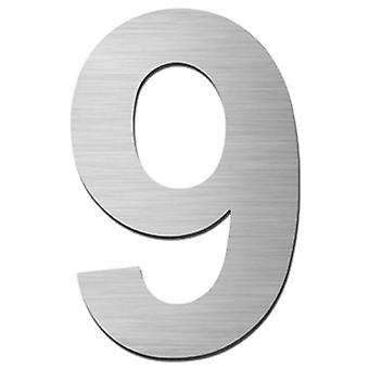 Serafini house number 9 stainless steel V4A self-adhesive height 15 cm