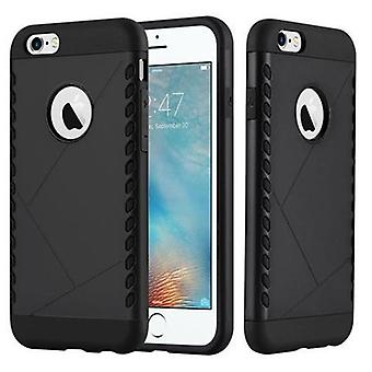 Cadorabo Case for Apple iPhone 6 / iPhone 6S Case Cover - Hard Case TPU Silicone Protective Case for Hybrid Cover in Outdoor Heavy Duty Design