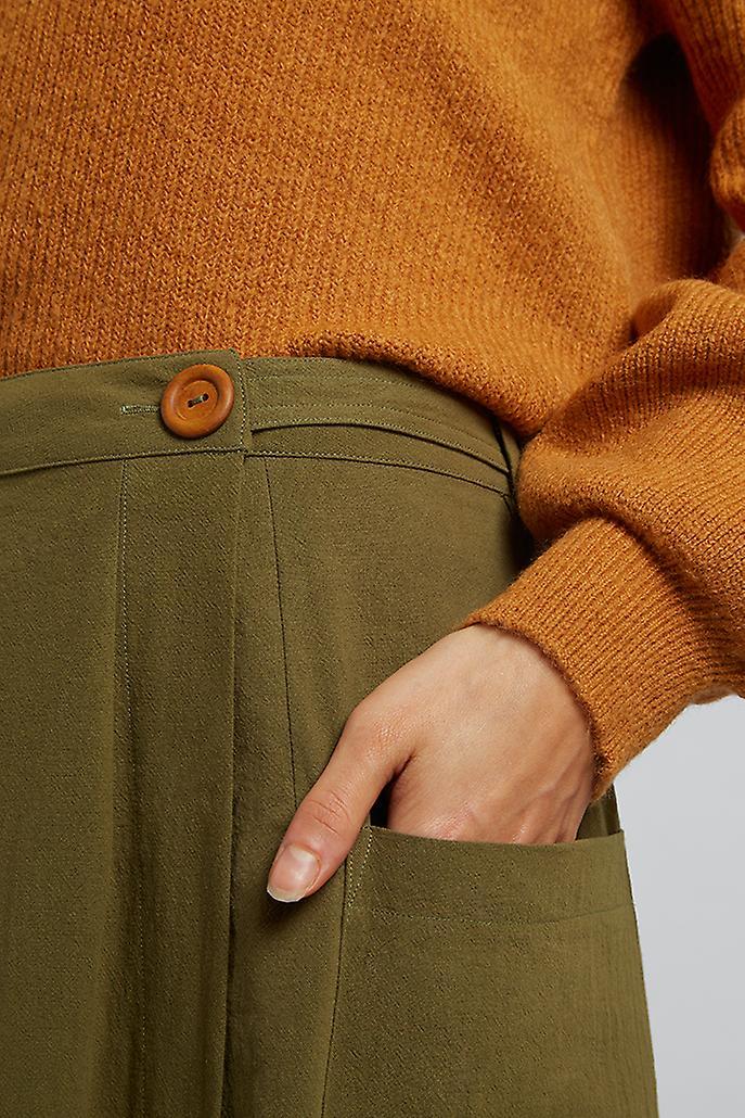 Louche Ari Utility Wrap Midi Skirt Khaki