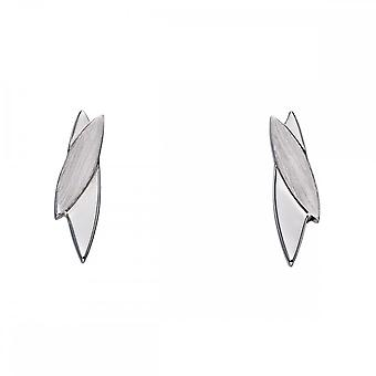 Fiorelli Silver Navetes Brushed And Polished Silver Earrings E5634