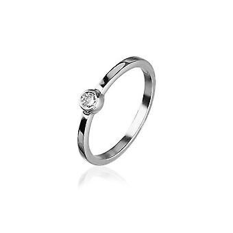 Sterling Silver Tradizionale Scozzese 'Cubid' Design Ring WIth Cubic