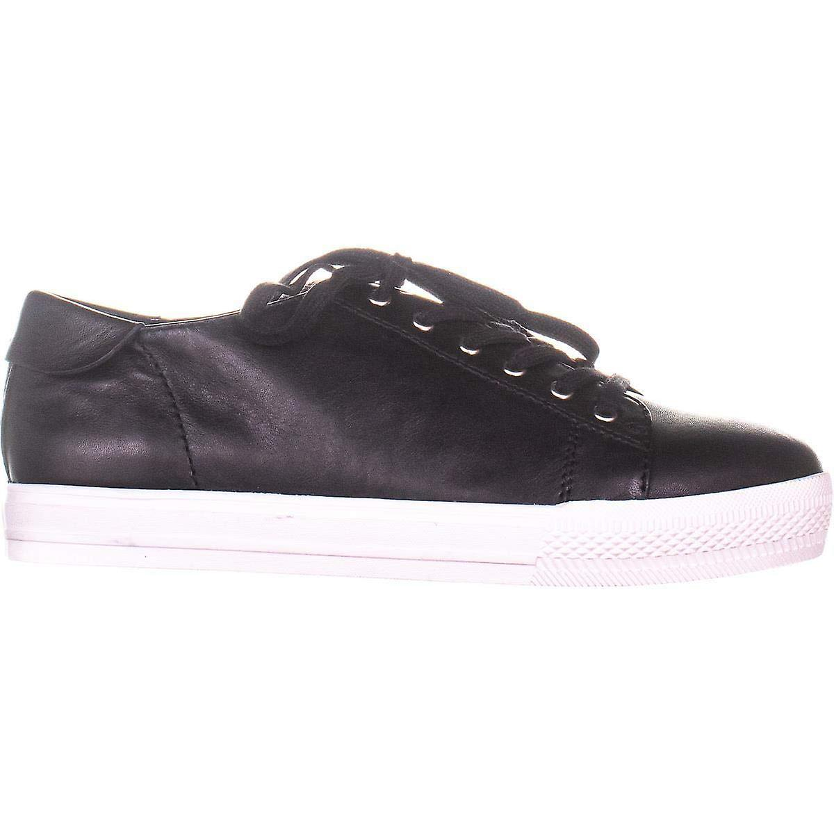 Nine West Womens Patrick Leather Low Top Lace Up Fashion Sneakers