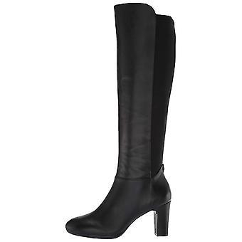 Anne Klein Women's Sylvie Heeled Boot Knee High, Black, 8.5 Medium/Wide Shaft US