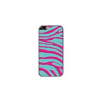 Hull Made In France Zebra Blue And Rose For Apple IPhone 5