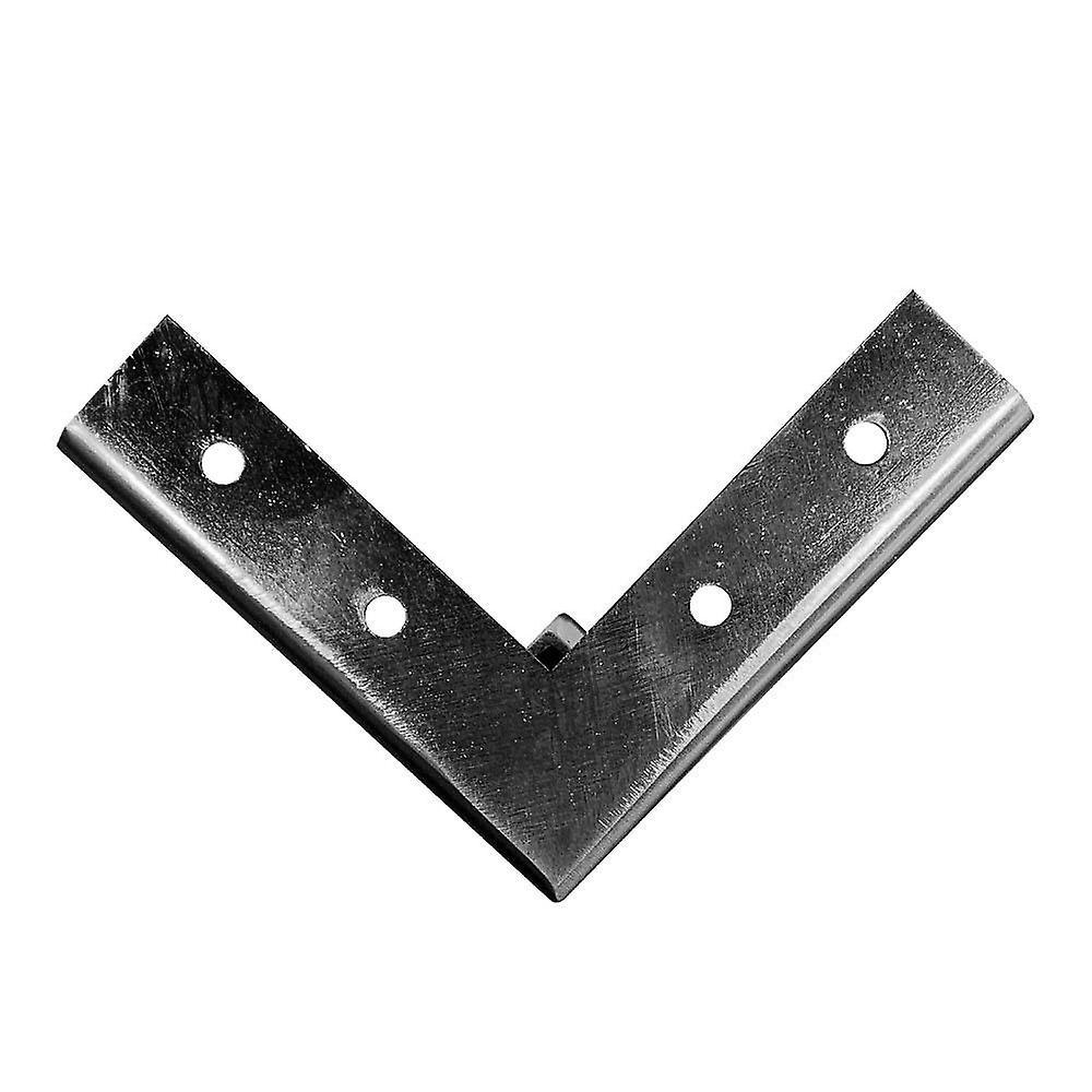 Jambe d'angle en acier inoxydable/INOX look 13 cm