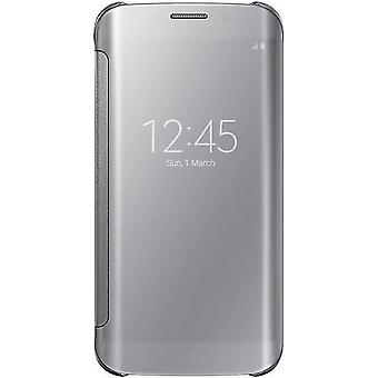 Samsung EF-ZG925BSE clear view transparent cover for Galaxy S6 edge - silver